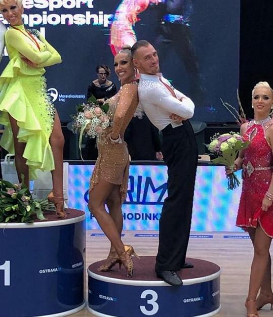 Eva Krejčířová skončila na třetím místě na mistrovství světa v latinskoamerických tancích.