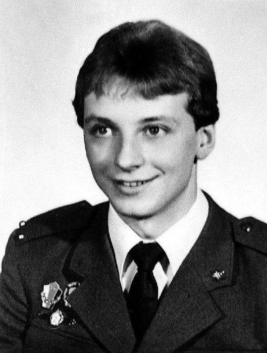 Petr Sepeši během povinné vojenské služby.