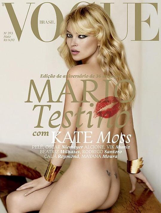Kate Moss na přebalu brazilského Vogue¨.