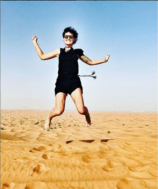 Salačová navštívila i poušť v Ománu.