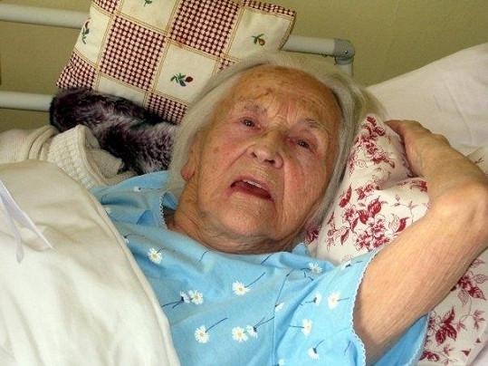 Zita Kabátová měla i ve stáří stále dobrou náladu.