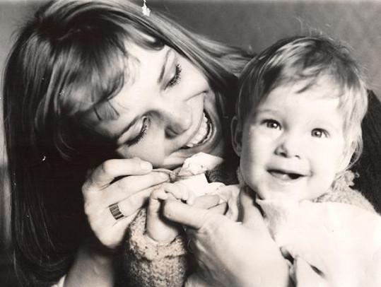 Dagmar s dcerou Ninou v roce 1976.