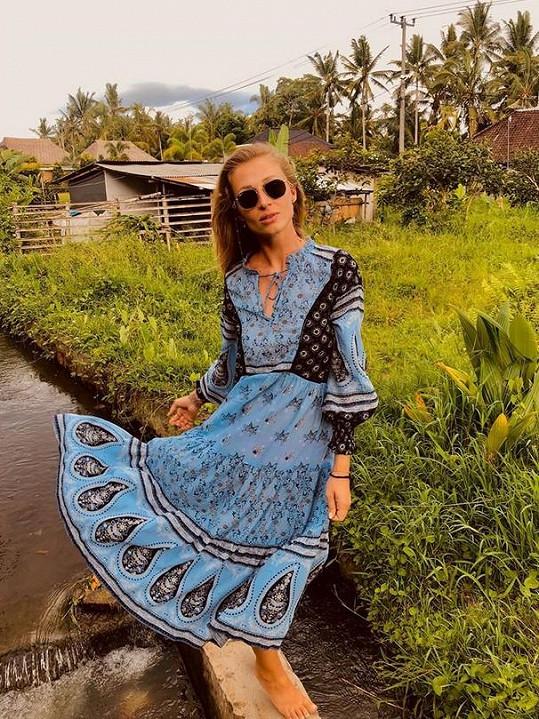 Veronika přivítala nový rok na Bali.