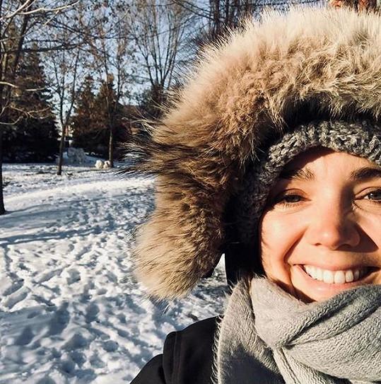 Lucie Vondráčková se zatím nechystá odcestovat z Montrealu.