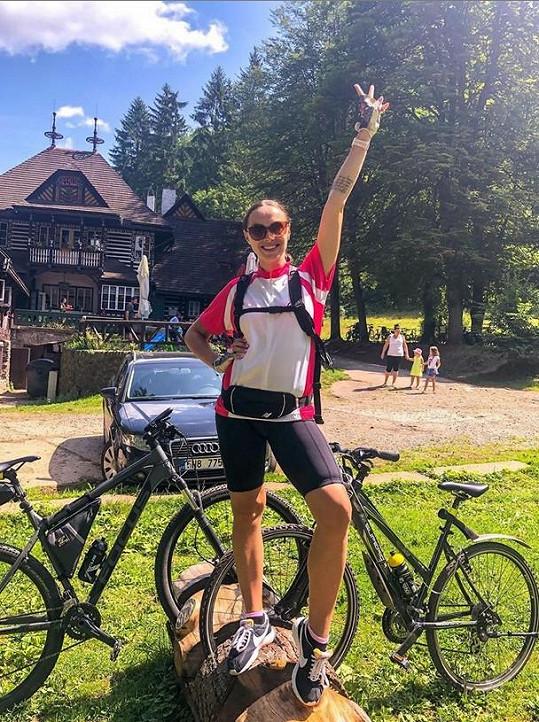 O prázdninách vyhrála také závod, na který dlouho trénovala.