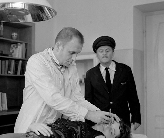 Ivo Niederle a Ferdinand Krůta v seriálu Hříšní lidé města pražského
