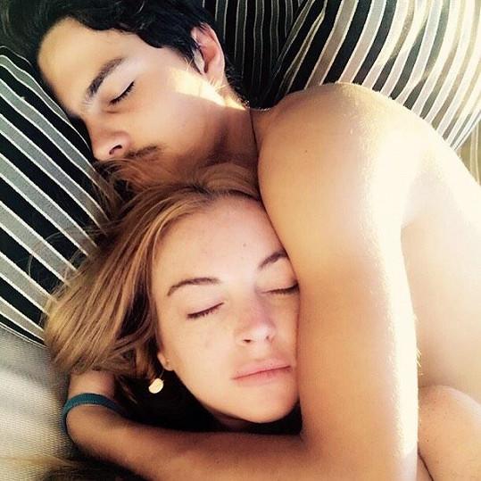 Lindsay s bývalým snoubencem Egorem Tarabasovem