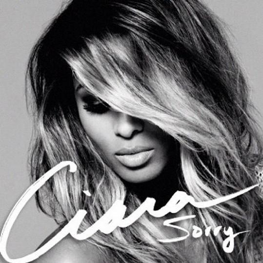 Ciara a přebal jejího singlu Sorry.