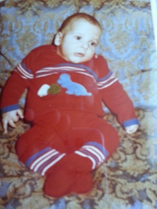 V dětství býval pěkný puclík.