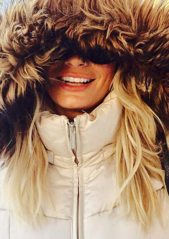 Moderátorka má zimu ráda.