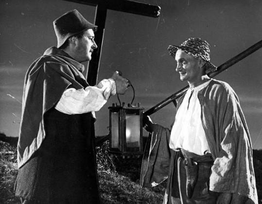 Jiří Sovák a Václav Lohniský v roli Smrťáka