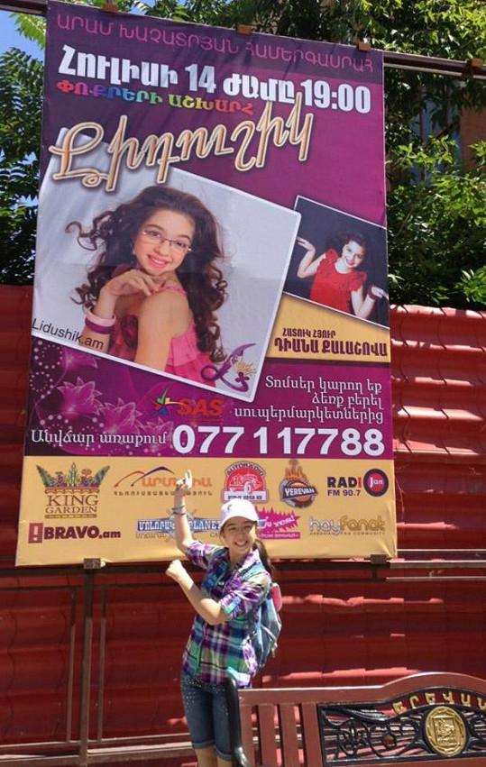 Jerevan je oblepený plakáty s Lidushik a jejím hostem Diankou.