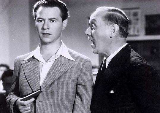 Ladislav Pešek a František Kreuzmann st. ve filmu Škola základ života.