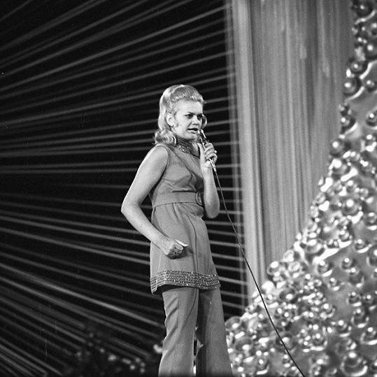 Slovenská zpěvačka Marcela Laiferová na fotce z roku 1969
