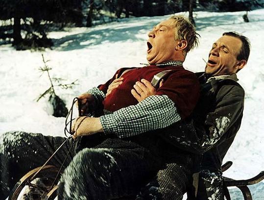 V temných padesátých letech byl nejpopulárnějším hercem Jaroslav Marvan. Ve filmu Anděl na horách se potkal s Josefem Kemrem.