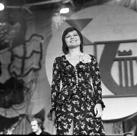 Jana Kocianová na festivalu Bratislavská lýra v roce 1975