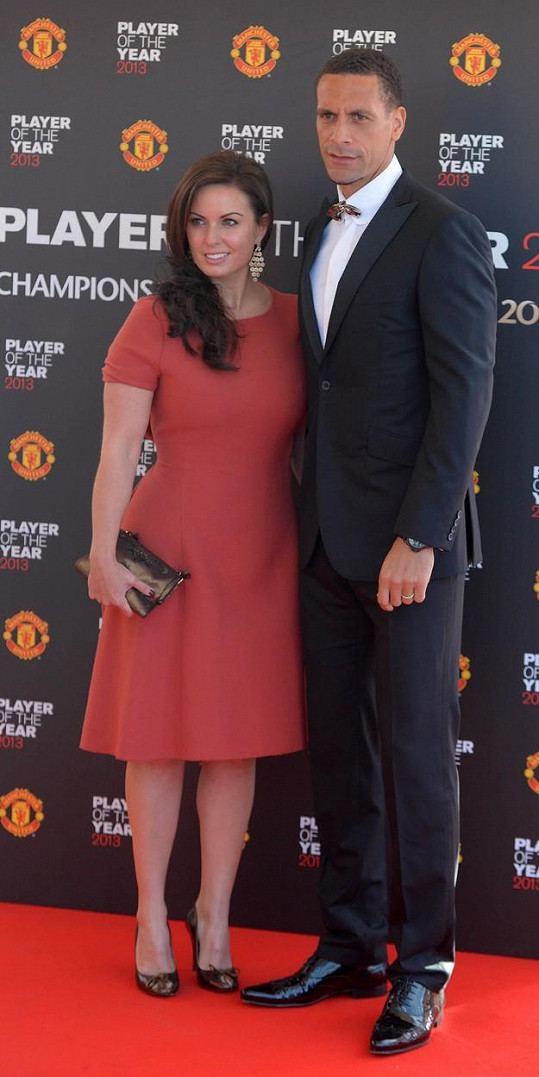 Ferdinand s manželkou Rebeccou v roce 2013