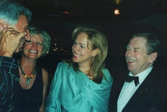 S Václavem Havlem na filmovém festivalu v Karlových Varech.