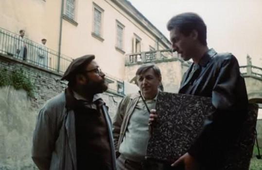 Ve filmu Něžný barbar ztvárnili hlavní role (zprava) Bolek Polívka, Jiří Menzel a Arnošt Goldflam
