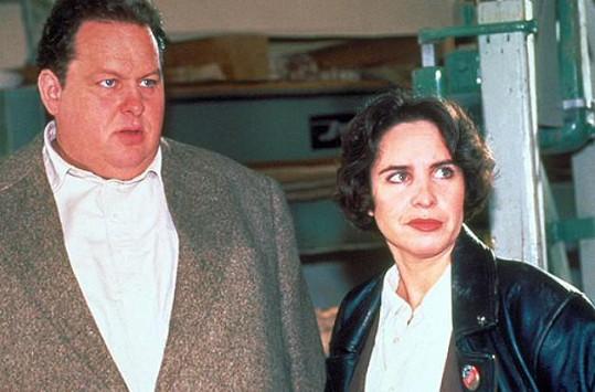 Katerina Jacob a Ottfried Fischer v začátcích natáčení seriálu Big Ben (1996)