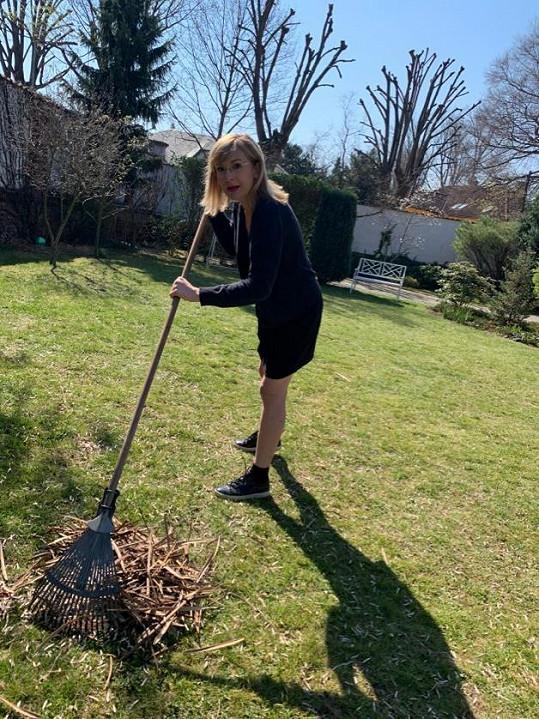 O zahradu se prý Štěpánka nikdy tolik nestarala.