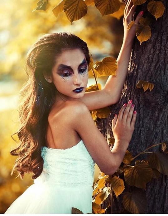 Natálii Denisa stylizovala do lesní víly.