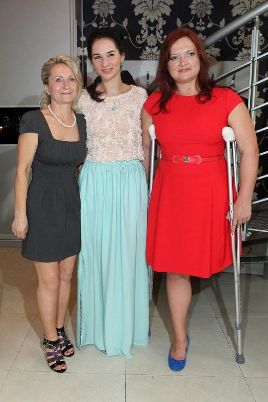 Sandra s majitelkami salonu Alenou Rumpli a Martinou Bursovou
