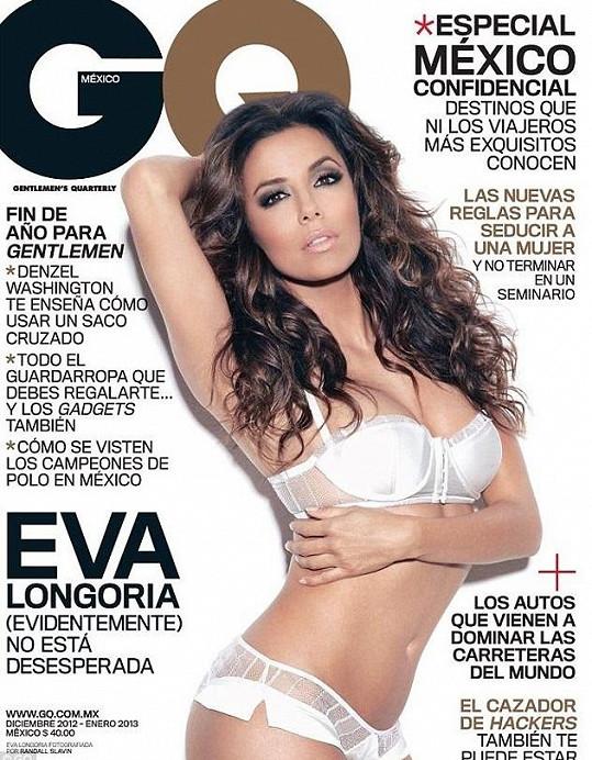 Krásná Longoria pro mexické GQ.