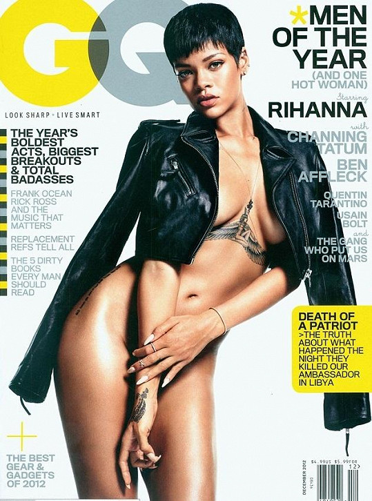Rihanna na titulce prosincového vydání GQ.