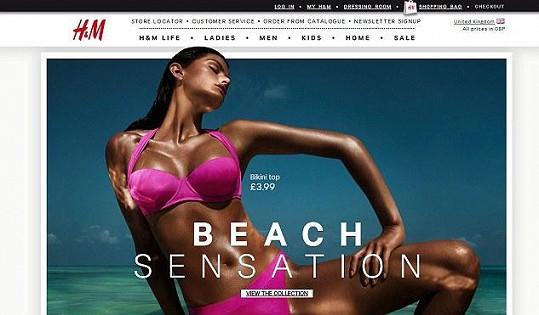 Isabeli Fontana se objevila i na webových stránkách firmy.