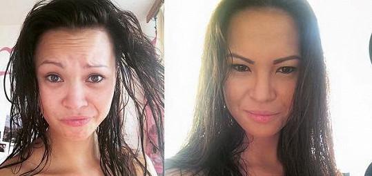 Monika Leová se nafotila bez make-upu.