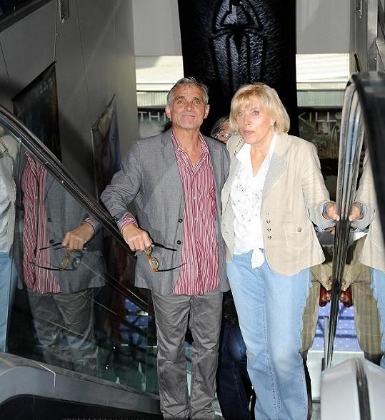 Oldřich Kaiser s režisérkou Marií Poledňákovou.