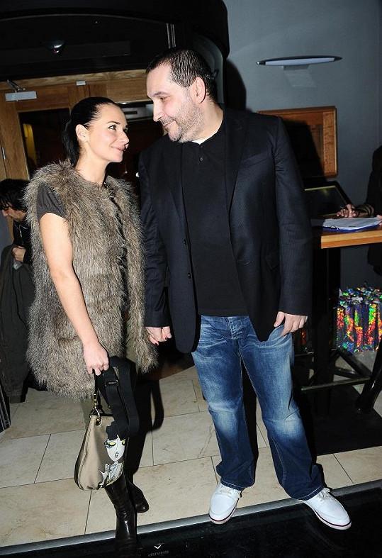 Sandra Nováková s expřítelem Janem Nejedlým.