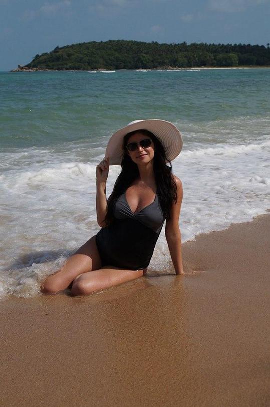 Moderátorka Denisa Jeřábková na ostrově Koh Samui