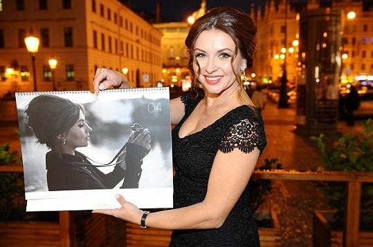 Herečka nafotila svůj první kalendář.