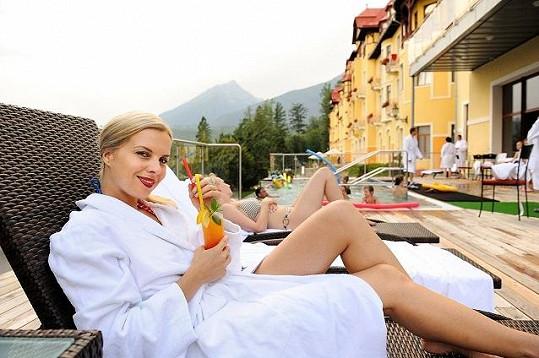 Katka si užívala relax v Tatrách.