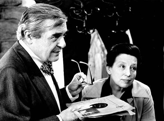 S Danou Medřickou ve filmu Noc klavíristy (1976)