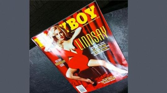 Lindsay Lohan na obálce Playboye.