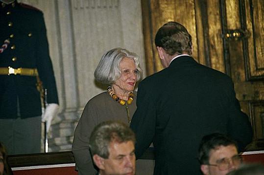 Druhá Voskovcova manželka Christine