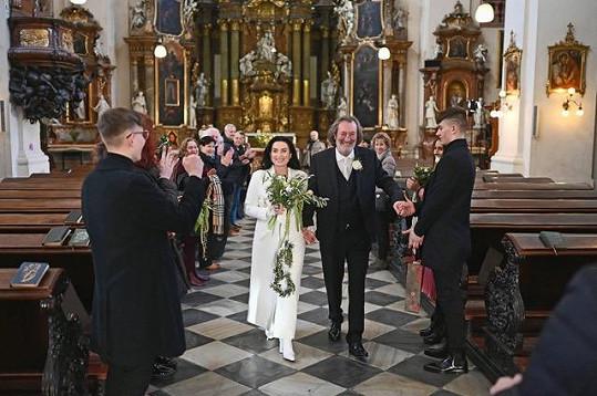Bolek Polívka se ženil před dvěma týdny.