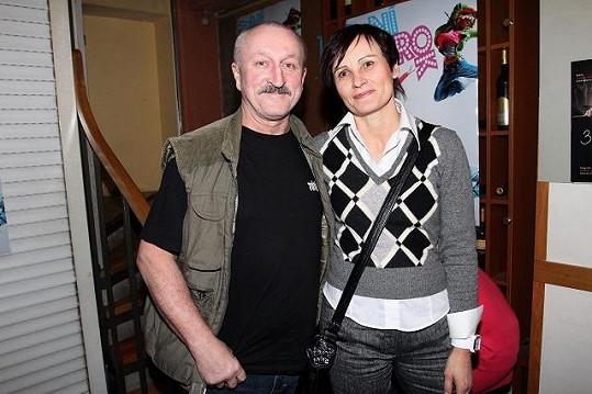 Oldřich Navrátil s manželkou.