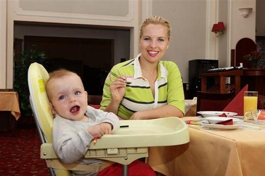 Kateřina Kristelová s dcerou Claudií na víkendovém pobytu v Mariánských lázních.