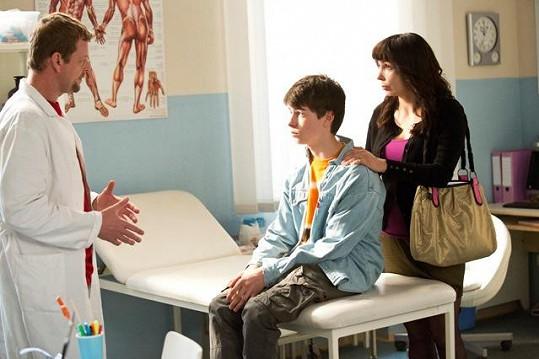 V seriálu si zahraje i její syn Andrej.
