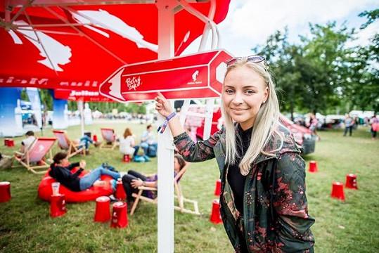 Konvičková si užívala festivalovou atmosféru.