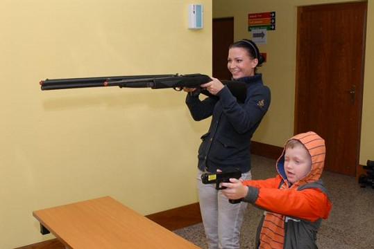 Střelba bavila hlavně Kristiana.