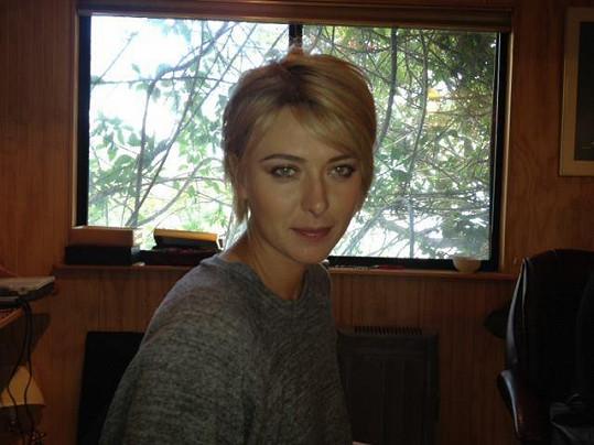 Maria Šarapova si nechala radikálně zkrátit vlasy.