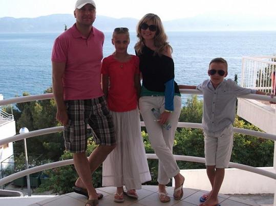 Na dovolenou jezdí Monika se svými nejbližšími nejraději do Chorvatska.