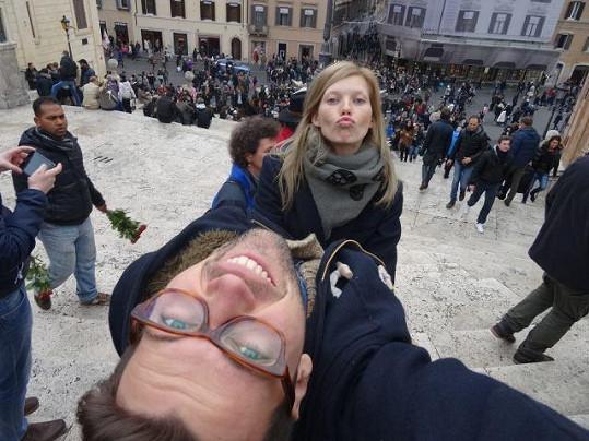 V Římě na Španělských schodech