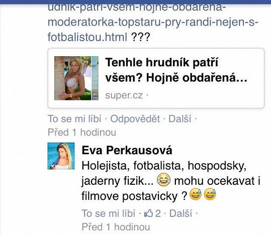 Eva Perkausová si s češtinou asi úplně netyká.
