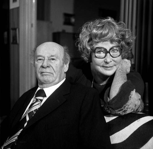 Vlasta Fabianová s manželem Bohušem Záhorským